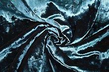 Teal Blue - Ice Crushed Velvet Glitz Premium