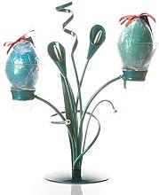 Teal | Enigma Candle Holder | Lily Leaf Table