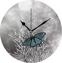 Teal Gray Butterfly Texture Novelty Art Decorative