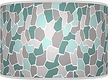 Teal Grey Pebble Lampshade - Handmade Shade - Home