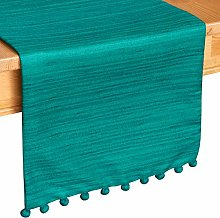 Teal Kitchen Table Runners (13x72 inch, Pack of 1,