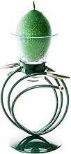Teal | Metal and Glass Candle Holder | Table