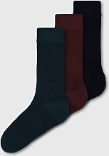 Teal, Navy & Red Thermal Socks 3 Pack - 9-12