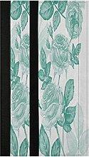 Teal Roses Peonies Floral Refrigerator Door Handle