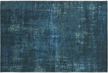 Teal woven jacquard rug 140x200cm