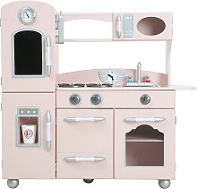 Teamson Kids Little Chef Wooden Play Kitchen - Pink
