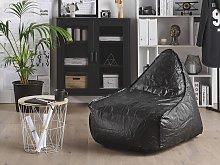 Teardrop Drop Bean Bag Chair Beanbag Black Gaming