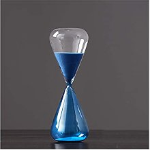 TEAYASON Blue Glass Hourglass Timer, Simple