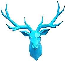 TEAYASON Deer Antler Wall Decoration Head Wall