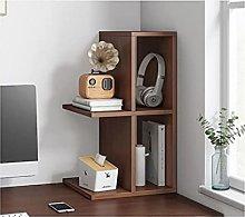 TEAYASON Desk Storage Desktop Bookshelf Wood Desk
