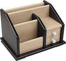 TEAYASON Desk Storage Wood Desktop Bookshelf with