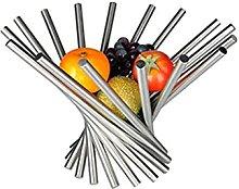 TEAYASON Dinner Plates,Stainless Steel Fruit Plate
