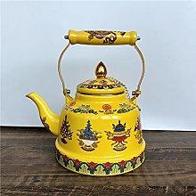 TEAYASON Enamel Teapot Tea Pots Coffee Pots 2.3L