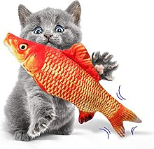 TEAYASON Fish Toys for Cats/Kids, Electric Wagging