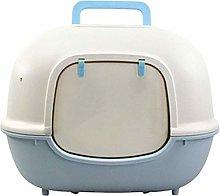 TEAYASON Fully Enclosed Cat Toilet Litter Box Easy
