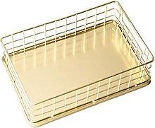 TEAYASON Jewelry Organizer Golden Wrought Iron