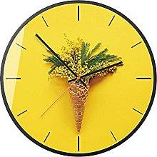 TEAYASON Nordic Wall Clock Plant Ice Cream Living
