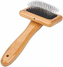 TEAYASON Pet Dog Hair Comb,Bamboo Dog Grooming