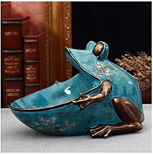 TEAYASON Sculpture 3D Frog Statue Home Decoration
