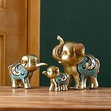 TEAYASON Sculptures/Statues 3Pcs Elephant Figurine