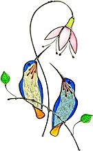 TEAYASON Tools Bird on a Wire,Multicolor Stained