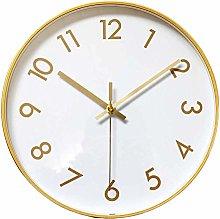TEAYASON Wall Clock Gold Fashion Metal, Decorative