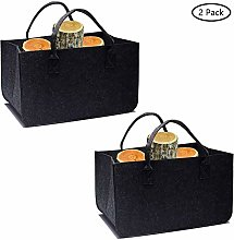 Tebery 2 Pack Dark Gray Felt Basket Felt Bag Grey