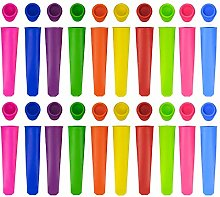 Tebery 20 Pack Silicone Popsicle Mold -Ice Pop