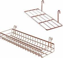 TEBI Iron Rose Gold 2pcs/set Wire Grid Panel Wall