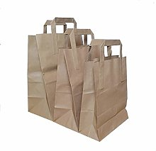 Techno Packaging Ltd Pack of 100 Brown SOS Kraft
