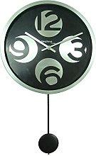 Technoline WT 1030 Quartz Wall Clock Metal Black