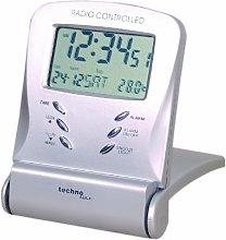 Technoline WT 171 Travel Remote Alarm Clock Silver