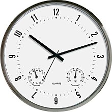Technoline WT 7980 Stainless Steel Wall Clock with
