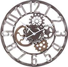 Technotrade Analogue Quartz Wall Clock in Metal