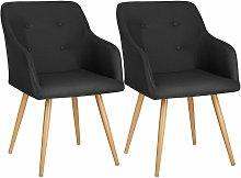 Tectake - 2 Chairs Tanja - desk chair, lounge