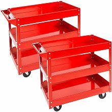 Tectake - 2 tool trolleys with 3 shelves - heavy