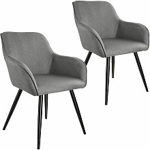Tectake - 2x Accent Chair Marylin - light