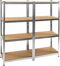 Tectake - 2x Garage shelving unit heavy duty 4