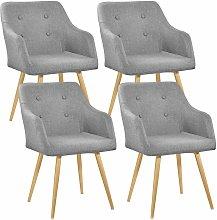 Tectake - 4 Chairs Tanja - desk chair, lounge