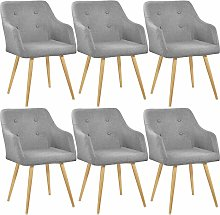 Tectake - 6 Chairs Tanja - desk chair, lounge