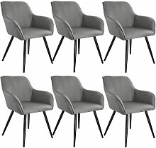 Tectake - 6x Accent Chair Marylin - light