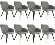 Tectake - 8x Accent Chair Marylin - light