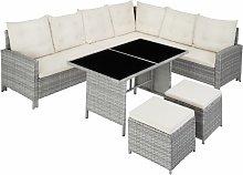 Tectake - Barletta Rattan Garden Furniture Set -