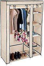 TecTake Double fabric wardrobe clothes storage