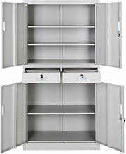 Tectake - Filing cabinet with 2 drawers - metal