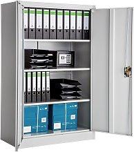 Tectake - Filing cabinet with 4 shelves - metal