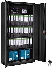 Tectake - Filing cabinet with 5 shelves - metal