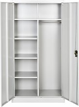 Tectake - Filing cabinet with 6 drawers and rail -