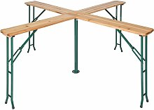 Tectake - Folding table Quattro 241 x 241 x 103 cm