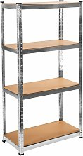 Tectake - Garage shelving unit 4 tier - metal
